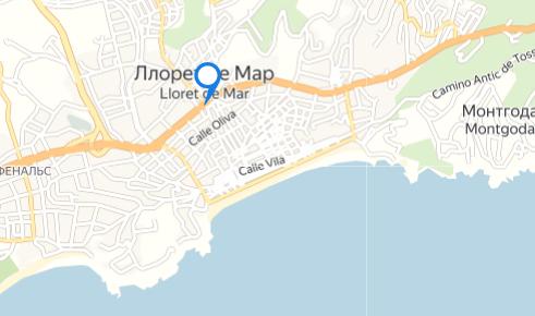 Ллорет-де-Мар на карте
